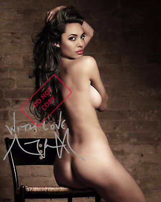 REPRINT RP 8x10 Signed Autographed Photo:  Angelina Jolie Nude