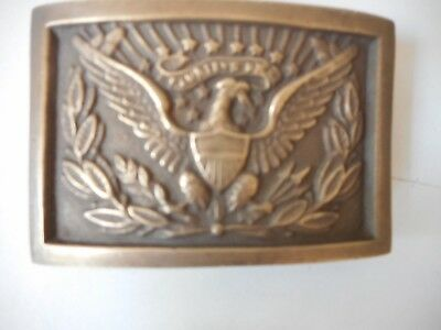 Army Officer  Solid Brass Eagle CSA Union Officer Buckle Belt