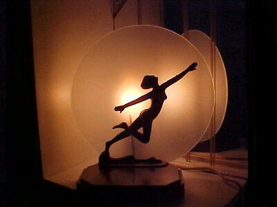 Art Deco 1930's Modernistic Nude Flying Lady Lamp with Shade - Frankart Era