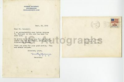 Norman Rockwell Secretary - Dorothy McGregor - Autographed Letter from 1978