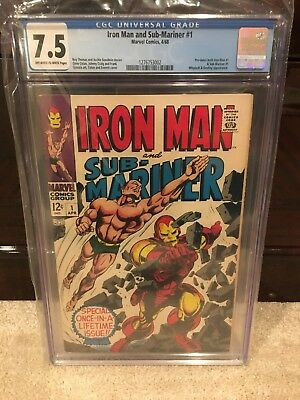 Iron Man And Submariner #1 Cgc 7.5 1968 Silver Age