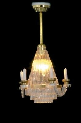 1/12 Scale: Miniature 12 volt Hanging Chandelier for your Dollhouse NEW #WCEL218