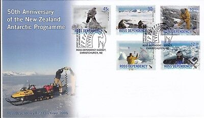 Stamps 2006 Ross Dependency New Zealand set of 5 Antarctic Programme FDC