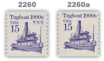 2260 2260a Tugboat 1900s 15c Tagging Variety Set 2 Transportation MNH - Buy Now