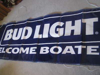 New Large Budweiser Bud Light Banner Sign Beer Welcome Boaters Fishing Pennants