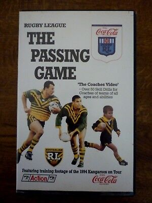 RUGBY LEAGUE The Passing Game 1995 Coaches Video PAL VHS Coca Cola