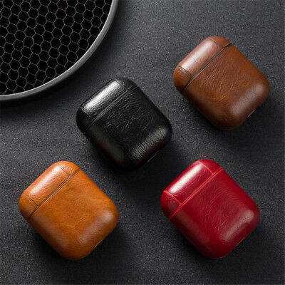Leather Airpods Earphone Protective Case Skin Cover For Apple AirPod Hot