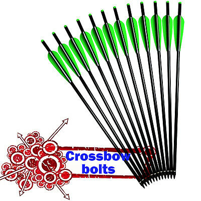 Archery Aluminum Arrows Crossbow Bolts for Outdoor Target Hunting 16-22 inch