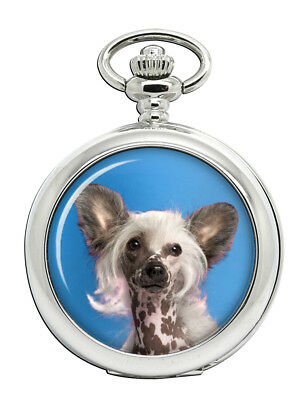 Chinese Crested Dog Pocket Watch (Optional Engraving)