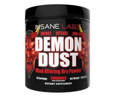 Insane Labz Demon Dust DRY SCOOP Formula 50 Serves Energy Focus Caffeine