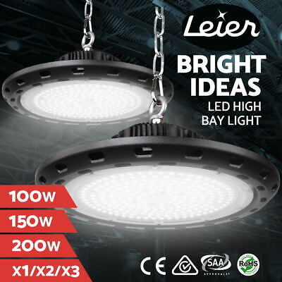 Leier Industrial UFO LED High Bay Lights Lamp Factory 100W 150W 200W Warehouse