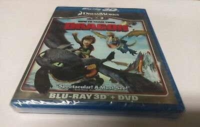 How to Train Your Dragon (Blu-ray/DVD, 2011, 2-Disc Set, 3D) NEW
