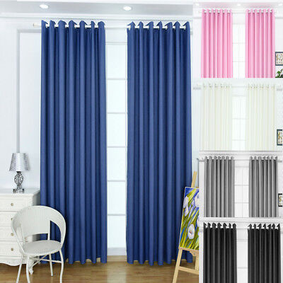 2Blackout Blockout Curtains Blinds Eyelet Thermal Insulated Room Darkening Panel