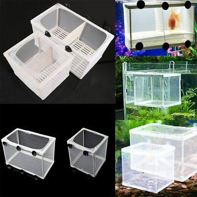 Aquarium Incubator Breeder Fish Tank Rear Trap Box Hatchery Reproduction Holder!