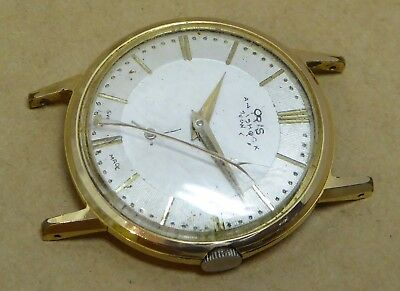 Gents Oris gold plate watch for repairs, calibre 581KIF, no hairspring or spacer
