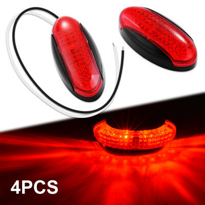 Red Side Marker Indicator Light For Car Truck Trailer Lorry 4LED LD1612