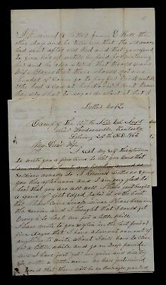 107th Illinois Infantry CIVIL WAR LETTER from Kentucky - Men Have Scurvy CONTENT