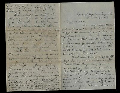 165th New York Infantry CIVIL WAR LETTER from Camp Vermillion Bayou, Louisiana !