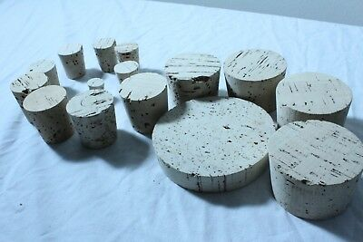5 10 100 Pack of Tapered Cork Stoppers Bungs  - (Size 4 - 32) - Free Shipping