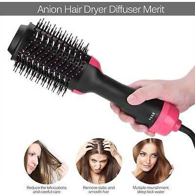 2 in1 Multifunctional Hair Dryer&Volumizer Rotating Hot Hair Brush Curler Roller