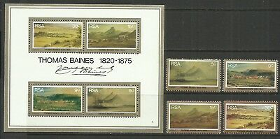 RSA 1975-South Africa-Paintings-MNH complete set + Mini Sheet