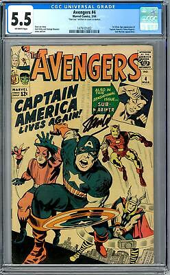 Avengers #4 CGC 5.5 (OW) 1st Silver Age Captain America Appearance