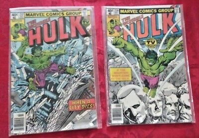 THE INCREDIBLE HULK * Issues 237, & 239 * Comics in Great Condition