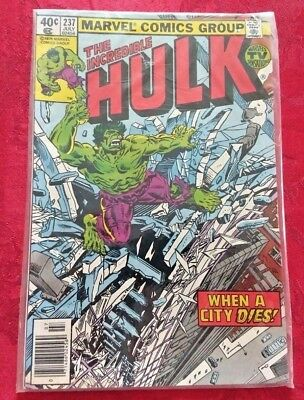 THE INCREDIBLE HULK * Issue # 237 * In Great Condition
