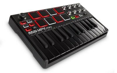 Akai MPK Mini MK 2 Keyboard Controller, LE Black