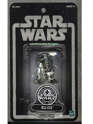 Toys R Us EXCLUSIVE Star Wars SW 25th Anniversary CHROMED R2-D2 Droid Figure TRU