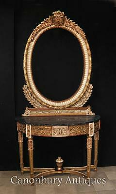 Console Table and Mirror Set - French Empire Tables Interiors