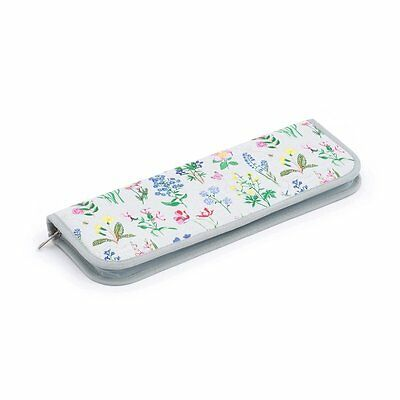 Spring Garden Needle Case With 10 pairs of Knitting Needles / Pins 35cm long