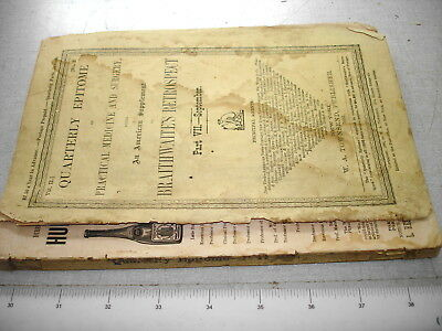 Sep 1881 QUARTERLY EPITOME PRACTICAL MEDICINE AND SURGERY JOURNAL