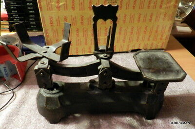 Vintage Heavy Iron Balance Beam Scale No Name Brand Needs Love Free Shipped