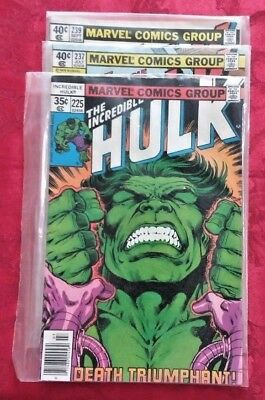 THE INCREDIBLE HULK * 225, 237, & 239 * Great condition.