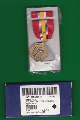 Us National Defense Service Medal Boxed 7/93