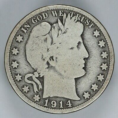 1914 P Barber Half Dollar 50C Choice Vg Very Good (6804)
