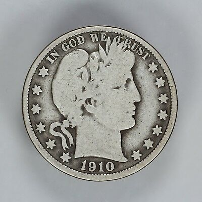 1910 P Barber Half Dollar 50C Choice Vg Very Good (6780)