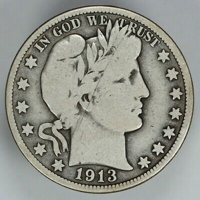 1913 P Barber Half Dollar 50C Choice Vg Very Good (6785)