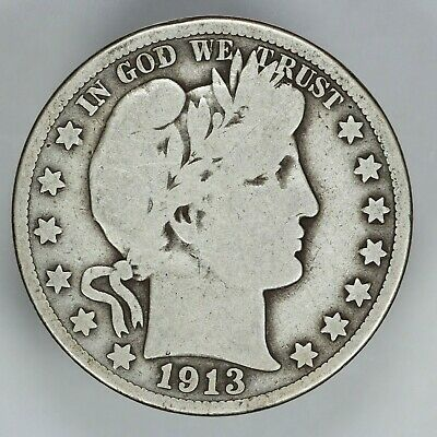1913 P Barber Half Dollar 50C Choice Vg Very Good (6787)