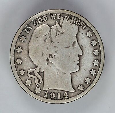 1914 P Barber Half Dollar 50C Choice Vg Very Good (6798)