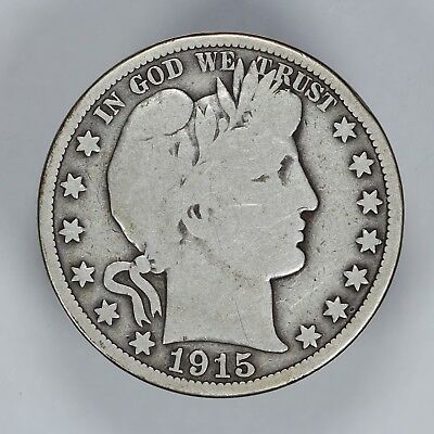 1915 P Barber Half Dollar 50C Choice Vg Very Good (6805)