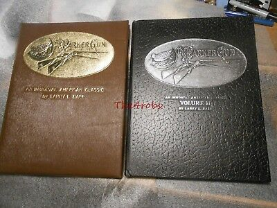 The Parker Gun Books Signed & Numbered Volumes 1 & 2 Larry Baer Leather Bound