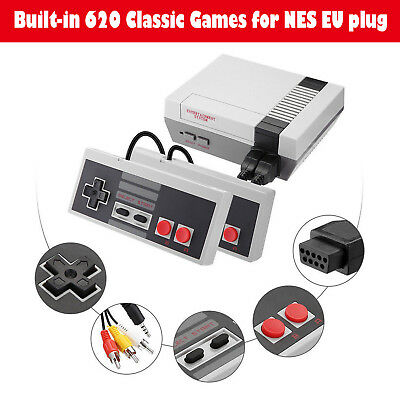 Retro Handheld 4 Keys Games Console Built-in 620 Classic Games for NES EU