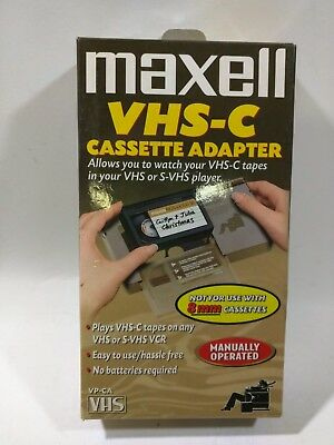 Maxell VHS-C Cassette Adapter VP-CA VHS Minty