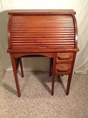 Antique Oak Child's Roll Top Desk and Chair for LOCAL PICKUP only