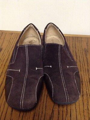 Women's Naturalizer Brown Leather & Suede Slip-on Loafers Shoe Size 9