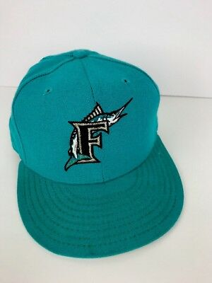more photos 5763a 323df Florida Marlins New Era 59Fifty Diamond Collection Wool Fitted Cap Hat 7 1 8