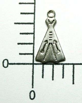 Matte Silver Oxidized Double Leaf Jewelry Charm Finding 73144          4 Pc