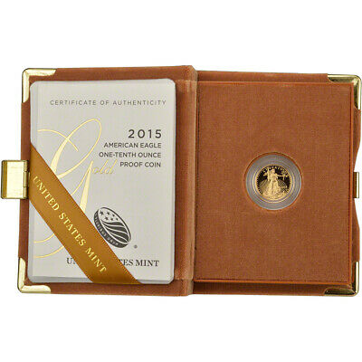 2015-W American Gold Eagle Proof (1/10 oz) $5 in OGP